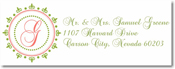 Name Doodles - Rectangle Address Labels/Stickers (Woodbury Fern)